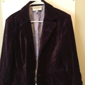 Jackets & Blazers - Purple velvet jacket